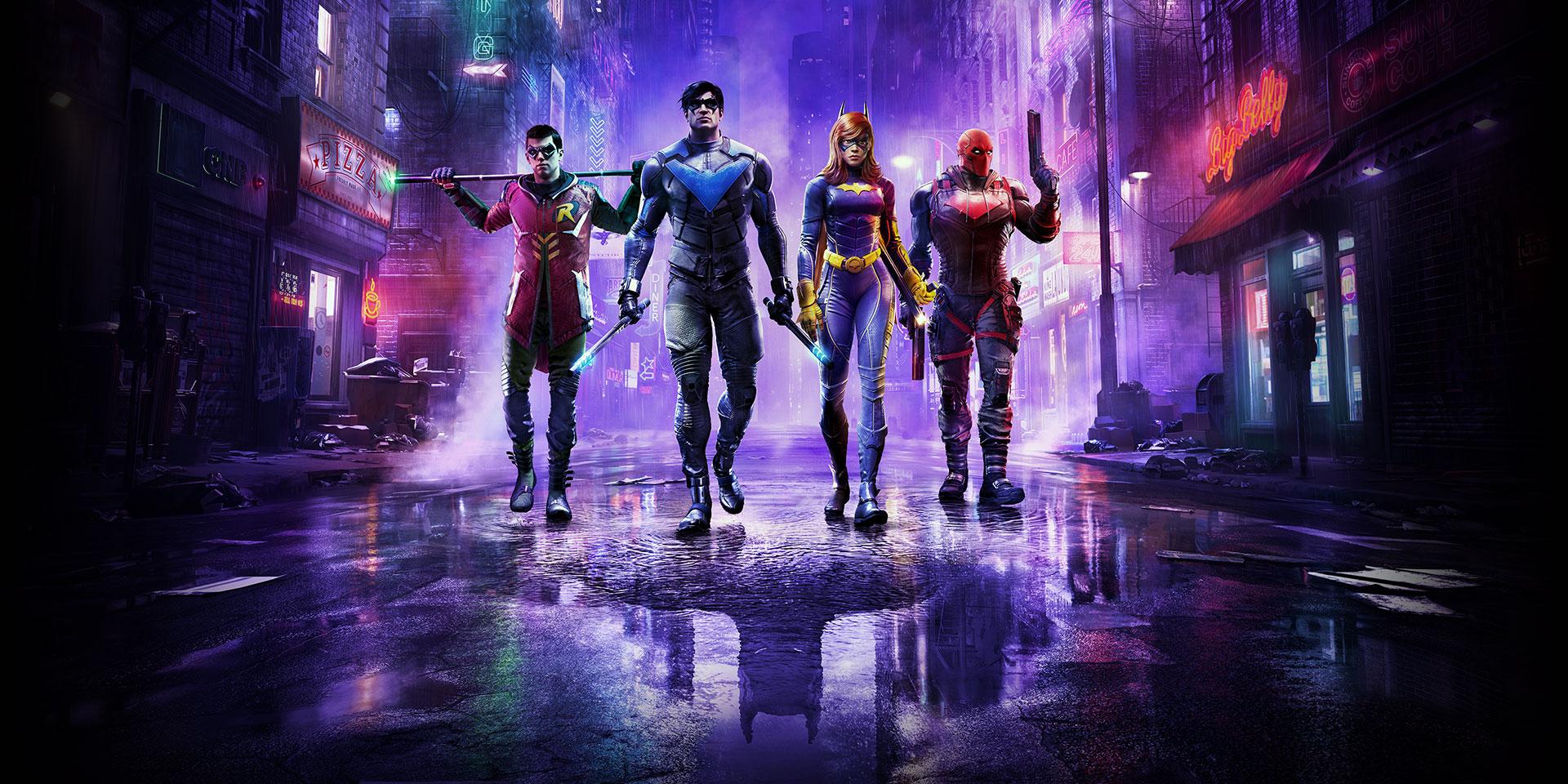 Robin, Nightwing, Batgirl and Red Hood
